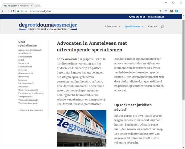 Webdesign voor advocatenkantoor